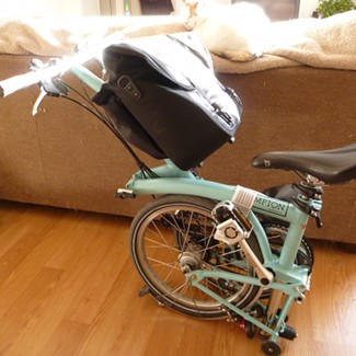 Brompton Bike with O-Bag