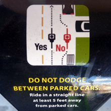 Do Not Dodge Between Parked Cars