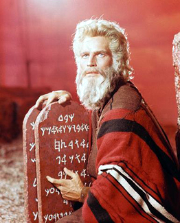 Charleton Heston as Moses