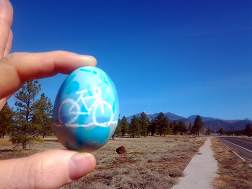 Colored Egg and Mt. Humphreys