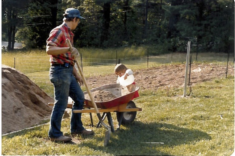 Another 'family' outing: building a fence