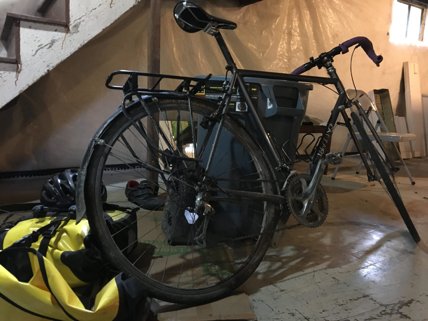 Exploded Touring Bike